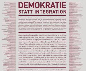 Demokratie statt Integration-Aufruf